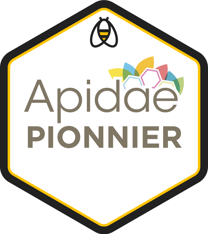 Badge pionnier Apidae